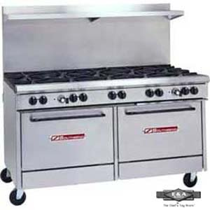 "Southbend - S60Dd - 300 Series 60"" Restaurant Range W/ 10 Burners & Standard Ovens"