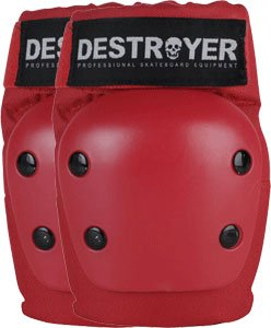 Buy Destroyer Recreation Red Small Elbow Skateboard Pads by Destroyer