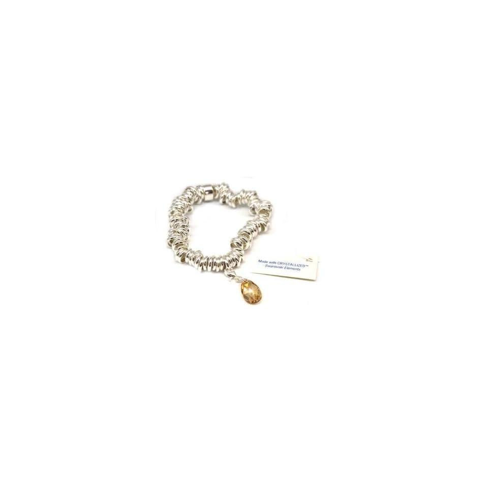 Toc Sterling Silver Candy Bracelet With Swarovski Elements Charm