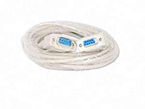 YCS Basics 15 Foot DB9 9 Pin Serial / RS232 Male / Female Extension Cable
