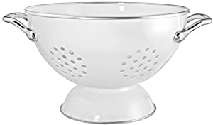 Calypso Basics 1.5 Quart powder coated  Colander, White