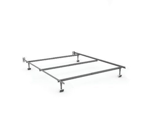 Sonax BK-1040 King Size Steel Bed Rails with Head Board Attachment