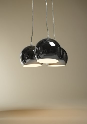 Design HÄNGELEUCHTE TRIAS klein silbern Hängelampe Deckenlampe