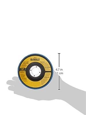 DEWALT DW8310 4-1/2 x 7/8 120 Grit Zirconia Angle Grinder Flap Disc