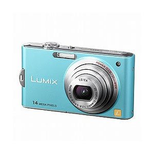 Panasonic デジタルカメラ ルミックス フローラルブルー DMC-FX66-A