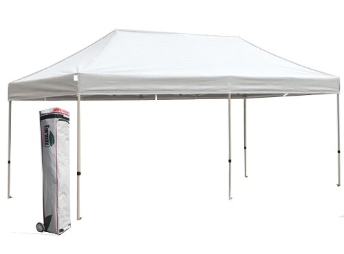 New Eurmax 10X20 White Party Tent Pop Up Gazebo Folding Instant Canopy W / Rolling Bag (White) front-786663