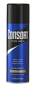 Consort Hair Spray for Men, Extra Hold, 8.3-Ounce