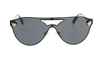 Versace Medusa Women's Sunglasses VE2161 100287 Gold/Grey Lens Aviator Authentic