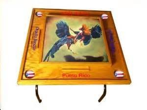 Amazon.com : Gallos Domino Table with Puerto Rico Flag : Patio, Lawn