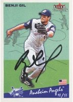 Benji Gil Anaheim Angels 2002 Fleer Tradition Autographed Hand Signed Trading Card. by Hall+of+Fame+Memorabilia