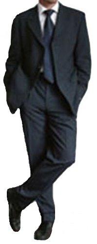 MUGA mens Suit + Waistcoat, Marine/Darkblue, size 56R (EU 66)