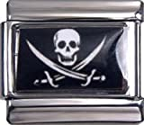 Italian Charms Pirate Flag For Italian Charm Bracelets. ArtNo:3124