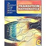 img - for UCSMP Transition Mathematics: Student Edition, Vol. 1, Chapters 1-6 by Steven S. Viktora (2008-07-30) book / textbook / text book