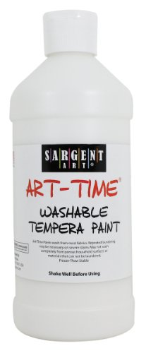 Sargent Art 22-3496 16-Ounce Art Time Washable Tempera, White