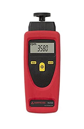 Amprobe TACH-20 Contact and Non-Contact Tachometer
