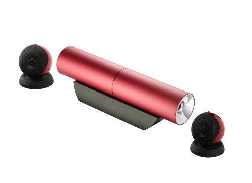 Edifier MP300 Plus Aurora Rev.3, 2.1-Soundsystem mit 2x 3,5W Satelliten und 1x 15W Subwoofer, inklusive Tragetasche, rot