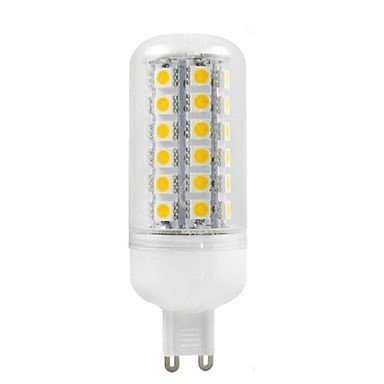 Rayshop - G9 6W 48X5050Smd 500Lm 2800-3200K Warm White Light Led Corn Bulb (Ac 220-240V)