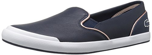Lacoste Women's Lancelle Slip on 316 1 Spw Nvy Fashion Sneaker, Navy, 10 M US