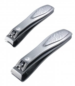 Tweezerman Professional Stainless Steel Nail Clipper Set - Satin Etched Zebra - 2pcs