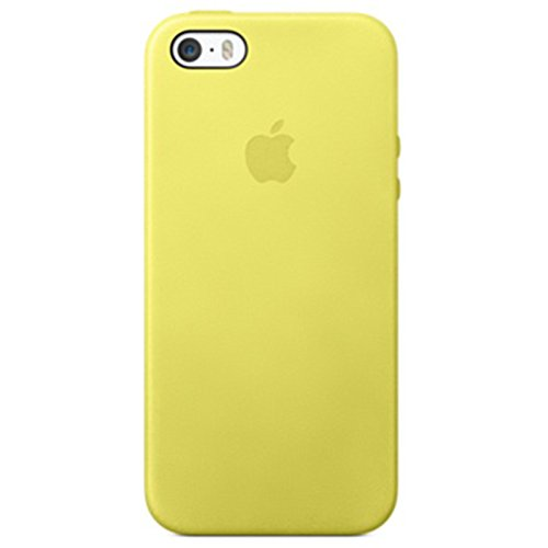 apple iphone 5s case h lle gelb yellow mf043zm a. Black Bedroom Furniture Sets. Home Design Ideas