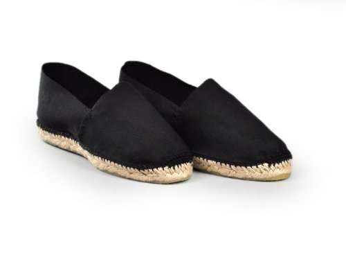 Espadrille-homme-tradition-basque-noire-fabrication-artisanale