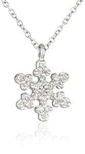 """KC Designs """"Trinkets"""" 14k White Gold and Diamond Small Snowflake Pendant Necklace"""