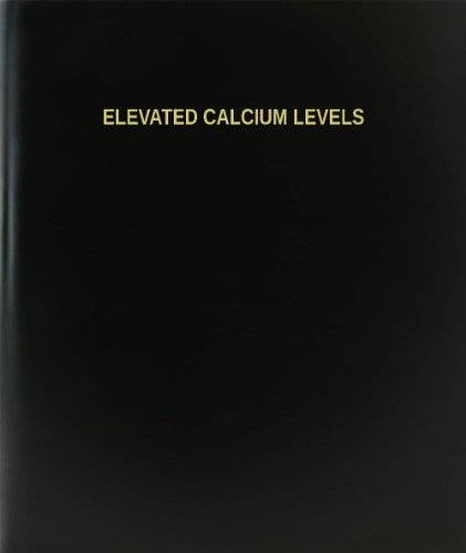 "Bookfactory® Elevated Calcium Levels Log Book / Journal / Logbook - 120 Page, 8.5""X11"", Black Hardbound (Xlog-120-7Cs-A-L-Black(Elevated Calcium Levels Log Book))"