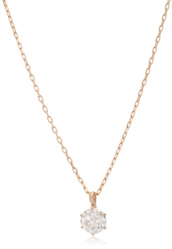 Dee collection D-COLLECTION K18 pink gold diamond necklace 0.2 ct classic simple diamond in 18kt pink gold / private BOX Magzine DS20096PG