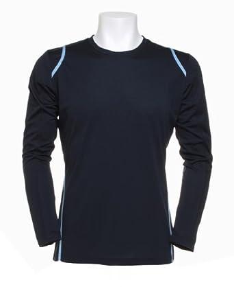 Kustom Kit Gamegear Cooltex Long Sleeve T-Shirt Navy/Light Blue XL