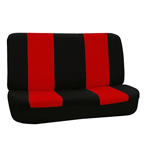 FH GROUP FB050R010 FH GROUP Universal Solid Bench Seat Cover Red/black Color- Fit Most Car, Truck, Suv, or Van (Solid Red Seat Covers compare prices)