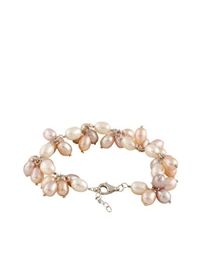 Splendid 6-7mm Multicolor Pearl Cluster Bracelet