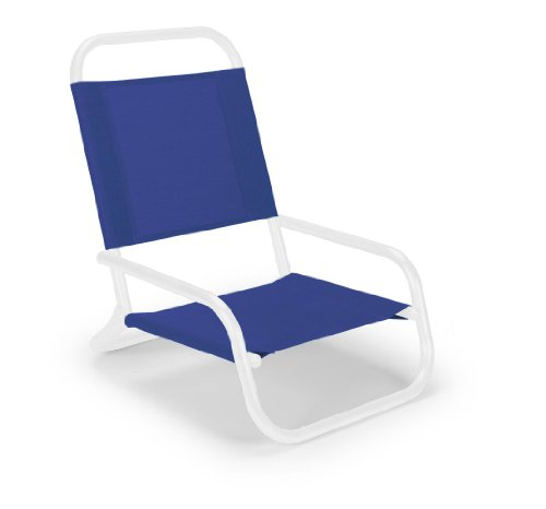 Telescope Casual Sun And Sand Chair, Gloss White Frame Finish With Atlantis Blue Fabric