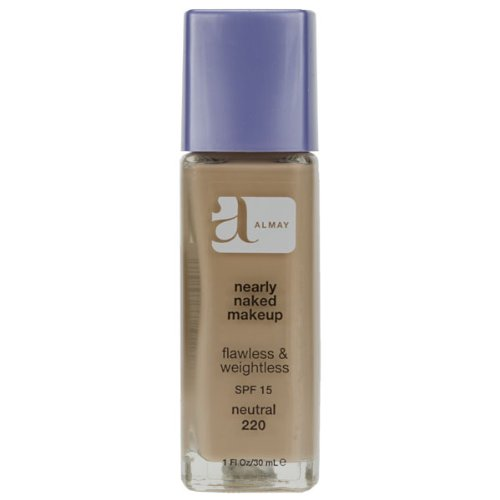 Almay Nearly Naked Makeup with SPF 15, Neutral 220, 1 Ounce Bottle