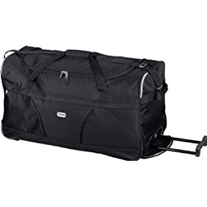 5 Cities Wheeled Holdall Trolley Bag in Black/Chocolate/Navy/Plum (Black)