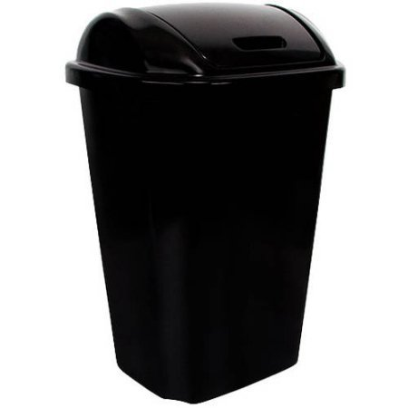 13.5-Gallon Trash Can , Lid swings back to closed position (Hefty Garbage Can compare prices)