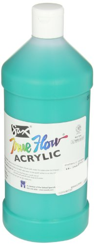 Sax True Flow Medium Bodied Acrylic Paint - Quart - Phthalo Green