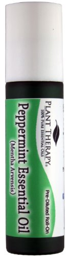Peppermint Pre-Diluted Essential Oil Roll-On 10 ml (1/3 fl oz). Ready to use!