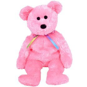 TY Beanie Baby - SHERBET the Bear (Pink Version) - 1