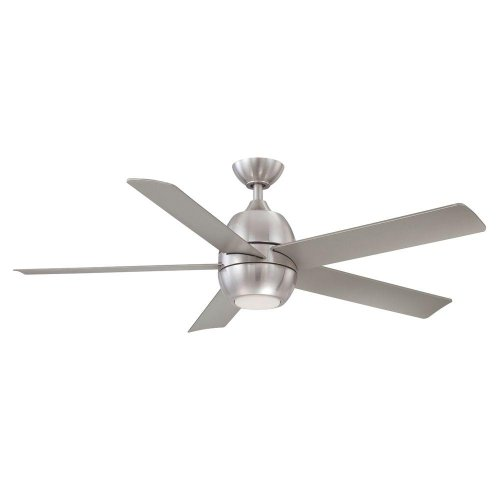 Hampton Bay Greco Ii 52 In. Brushed Nickel Led Ceiling Fan