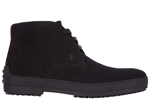 Tod's polacchine stivaletti scarpe uomo camoscio winter gommini nero EU 40 XXM0HW00D80EN0B999