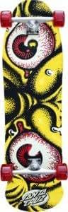 "Santa Cruz Roskopp Monster Rob Glow Complete Longboard Skateboard - 10.7"" x 36.3"""