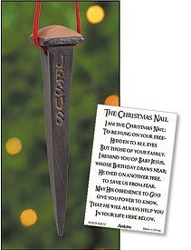 Story of the Christmas Nail Jesus Remembrance 2 1/2 Inch Inspirational Ornament Home Decoration