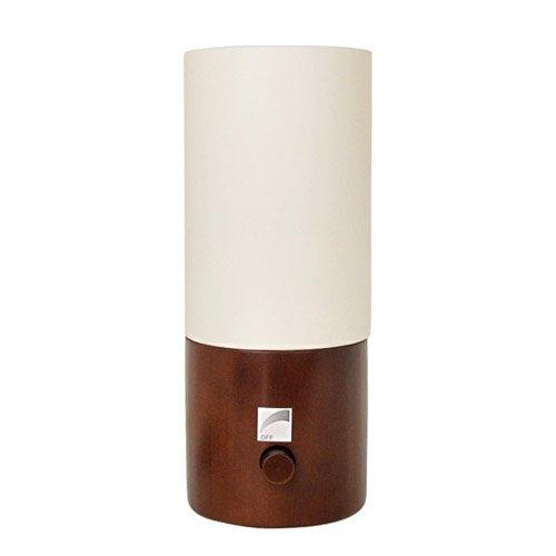ベッドサイドランプ ROG ログ 調光機能付 ブラウン