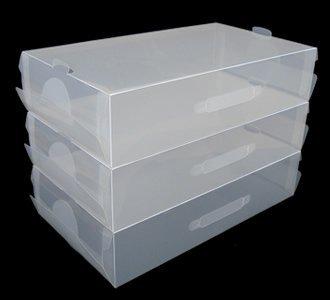 3 x transparente de pl stico apilables para mujer para - Cajas transparentes para zapatos ...
