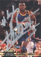Dikembe Mutombo Denver Nuggets 1992 Topps Stadium Club Autographed Hand Signed...