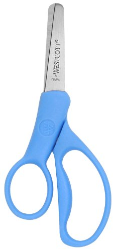 Westcott School Kumfy Grip Left Handed Kids Scissors, 5-Inch, Blunt, Colors Vary (13594)