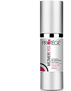 On Sale! Best Eye Cream - Protege MezmerEYES - For Dark Circles + Puffiness + Eye Bags + Fine Lines + Puffy Eyes + Crows Feet + Sagging Eyes & Wrinkles + Retinol + Caffeine + Copper Peptide + Licorice + Collagen + Vitamin A C E + Unconditional Guarantee