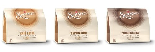 Choose Senseo Milk-Set: Café Latte, Cappuccino, Choco Cappuccino, 3 x 10 Coffee Pods from Douwe Egberts