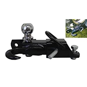 3 Way 2'' Ball Hitch Tow Hook Trailer Receiver Mount