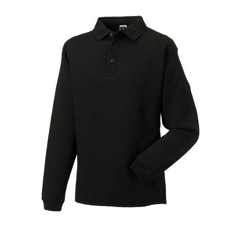 Russell Collection Mens Workwear Collar Sweatshirt - Black - XS